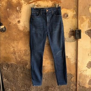 Madewell Curvy High Rise Skinny Jean in Hayes Wash